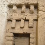 Blind window-main temple- Noshijan hill near Hamedan
