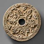 Roundel with radiating palmettes-sassanian