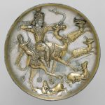 Plate with a hunting scene -sassanid